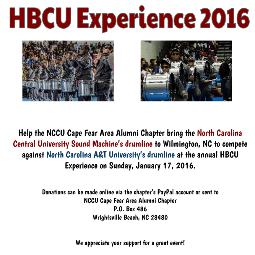 HBCU Experience 2016 Donations(2)